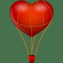 256x256 Heart Shaped Hot Air Balloon Transparent Png