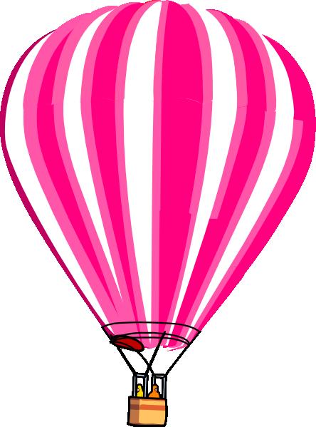 444x599 Hot Air Balloon Pink Clip Art