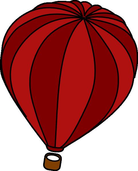 480x597 Hot Air Balloon Red Clip Art