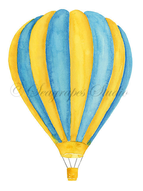 482x641 Hot Air Balloons Watercolor Clipart 3 Individual Balloon Png