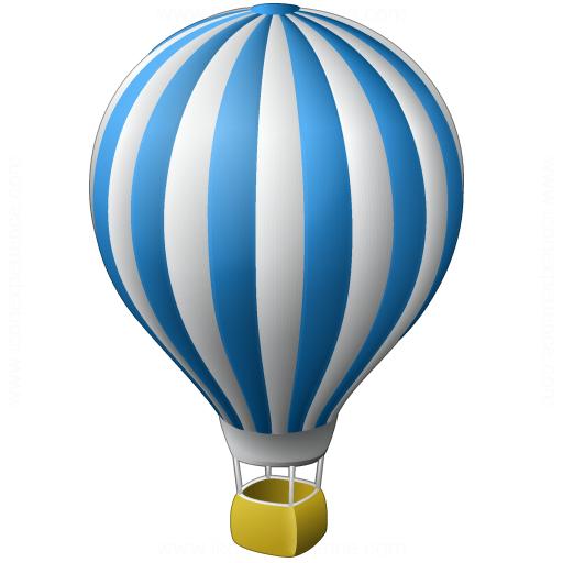 512x512 Iconexperience V Collection Hot Air Balloon Icon