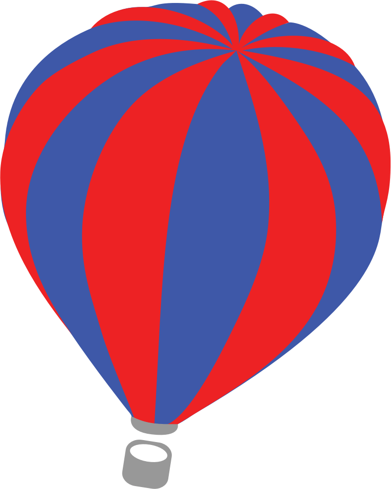 799x1000 Red Blue Hot Air Balloon Transparent Png