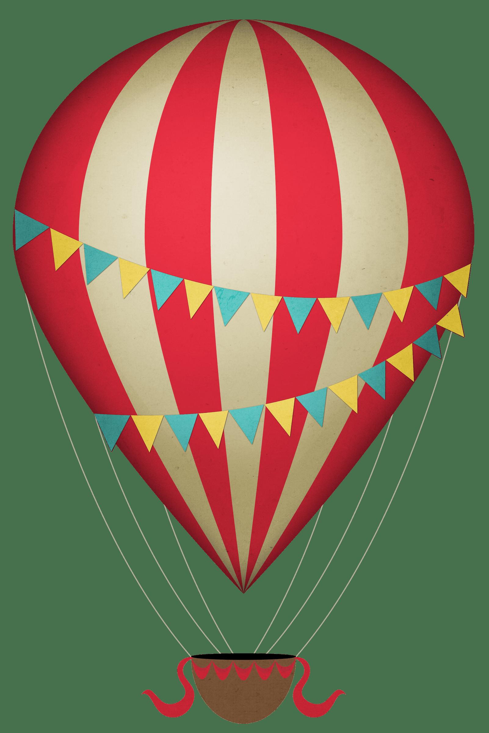 1602x2400 Vintage Clipart Hot Air Balloon Transparent Png