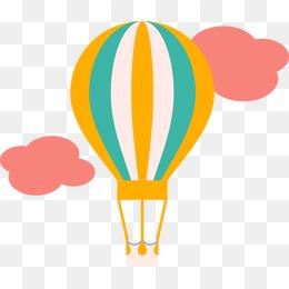 260x260 Cartoon Hot Air Balloon, Child, Blowing Instruments, Hot Air