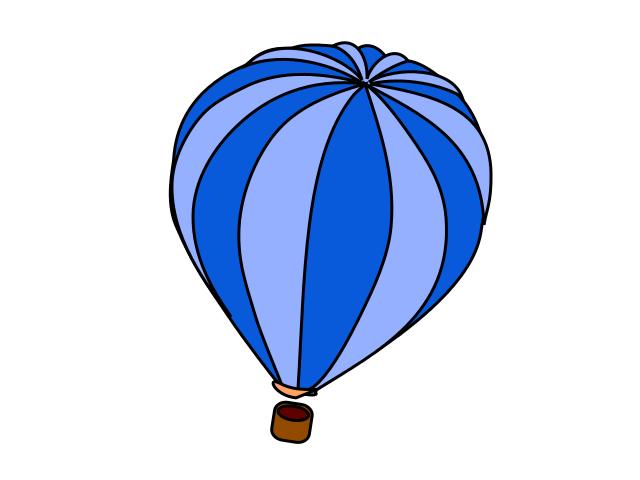640x480 Hot Air Balloon Blue
