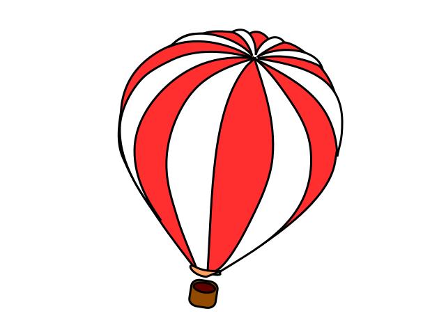 640x480 Hot Air Balloon Red