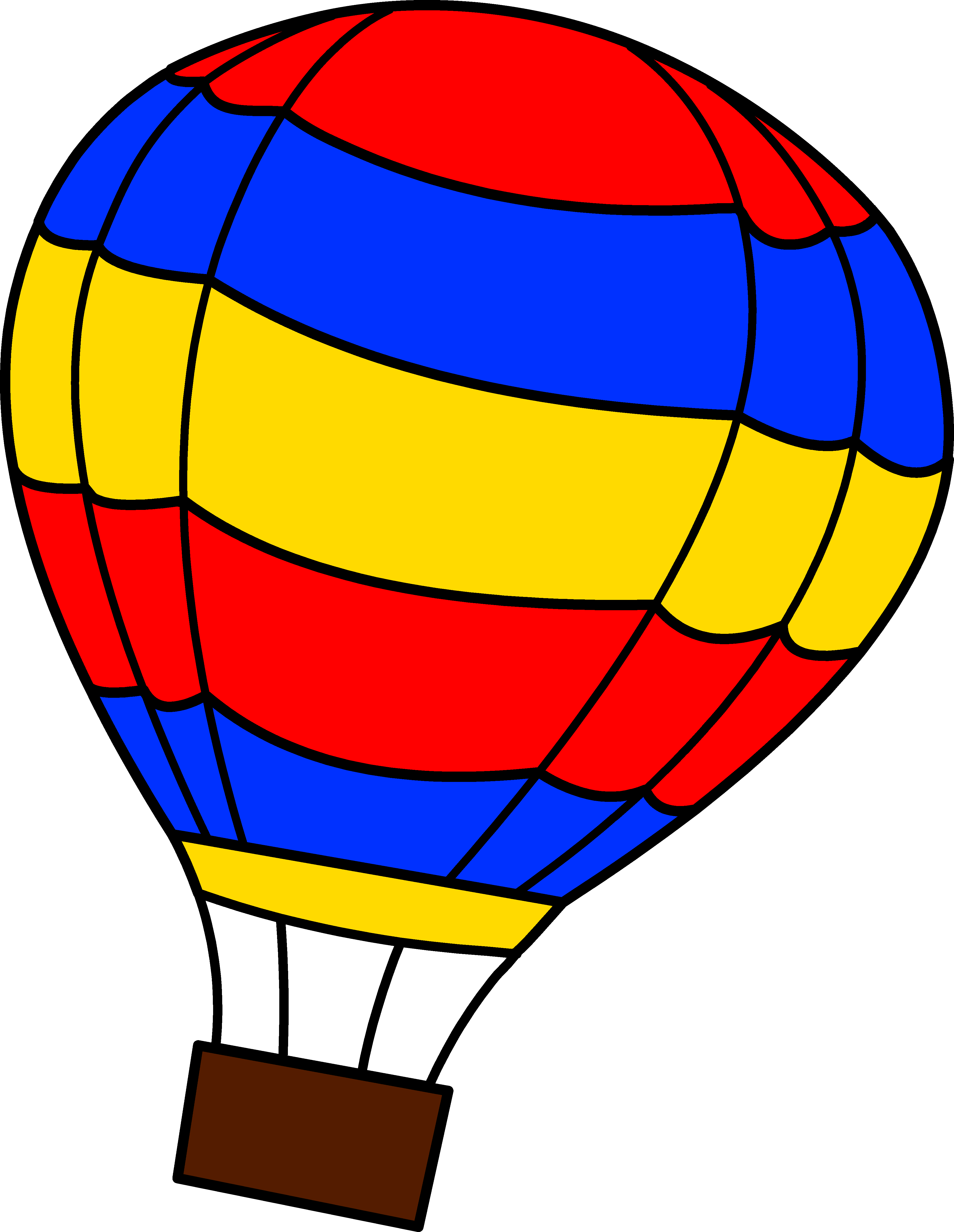 3877x5009 Cartoon Hot Air Balloon Png Clipart