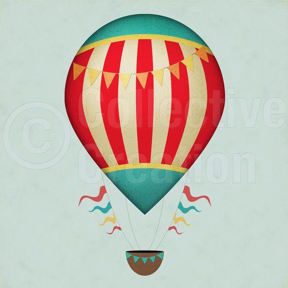 570x570 Drawn Hot Air Balloon Vintage Circus
