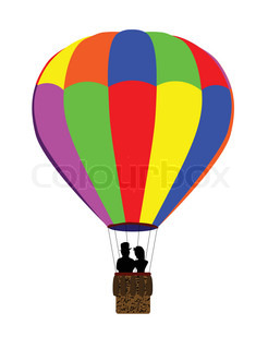 246x320 Old Aerostat Or Hot Air Balloon Vintage Illustration Stock