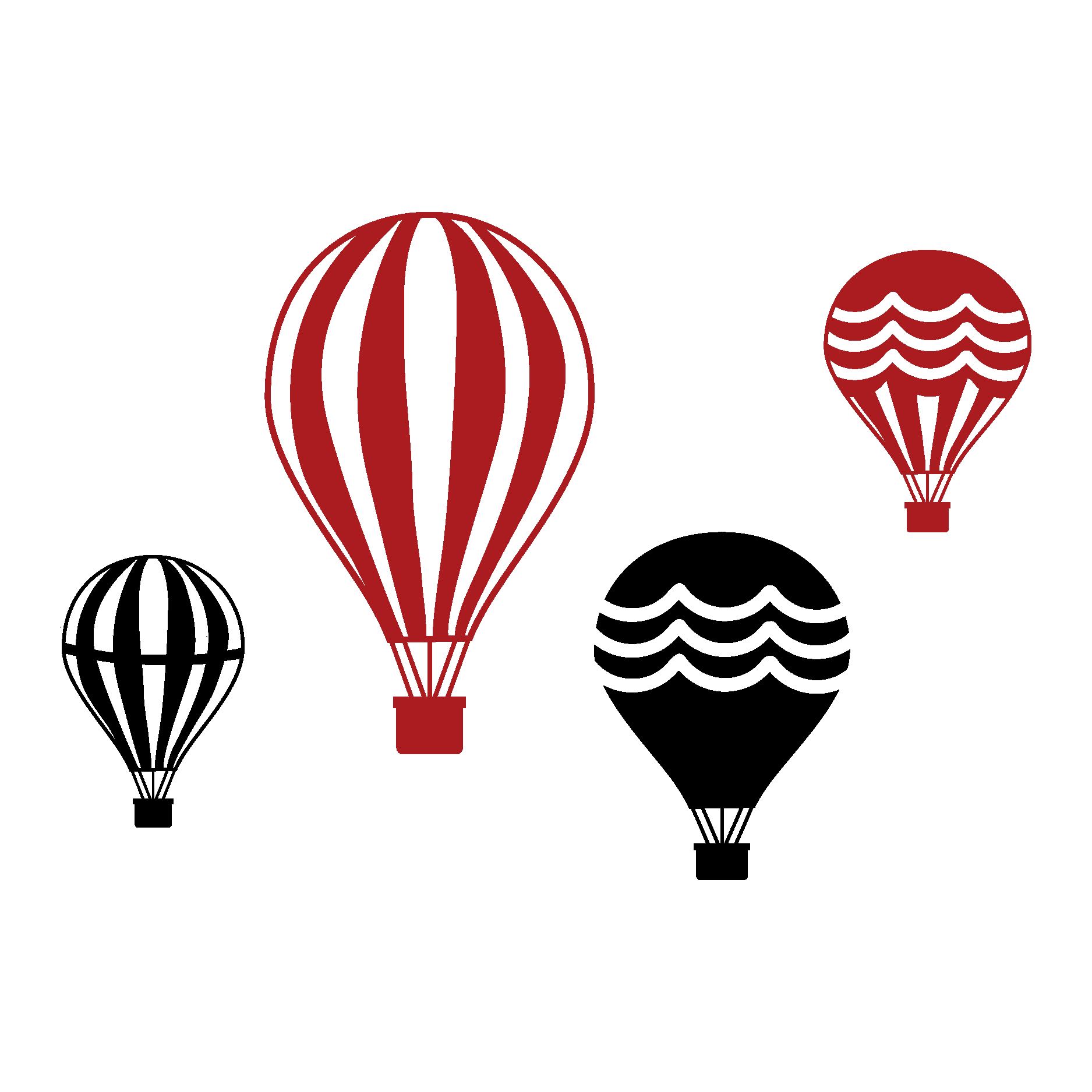 1875x1875 Vintage Hot Air Balloon Collection Wall Wall Art Decal