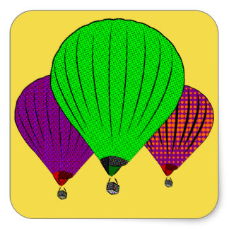 324x324 Vintage Hot Air Balloon Stickers Zazzle.co.uk