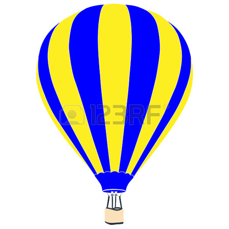 450x450 Vintage Hot Air Balloon With Basket Vector Icon Isolated, Summer
