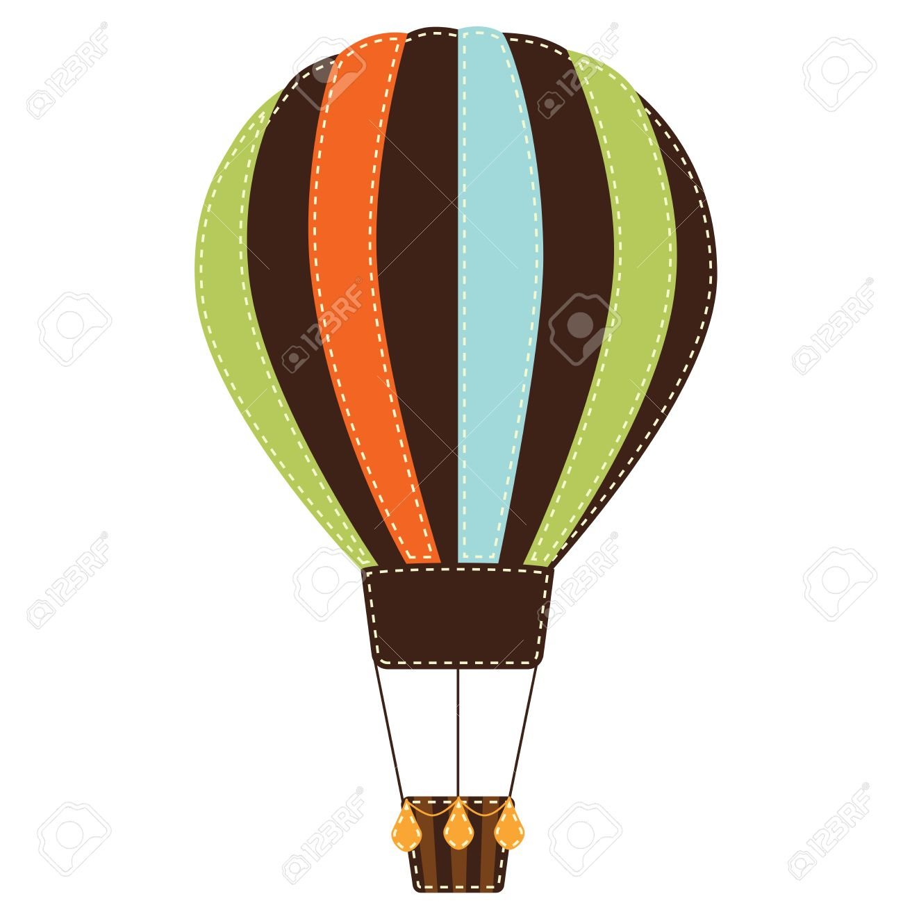 1300x1300 Vintage Or Retro Hot Air Balloon On Transparent Background Royalty