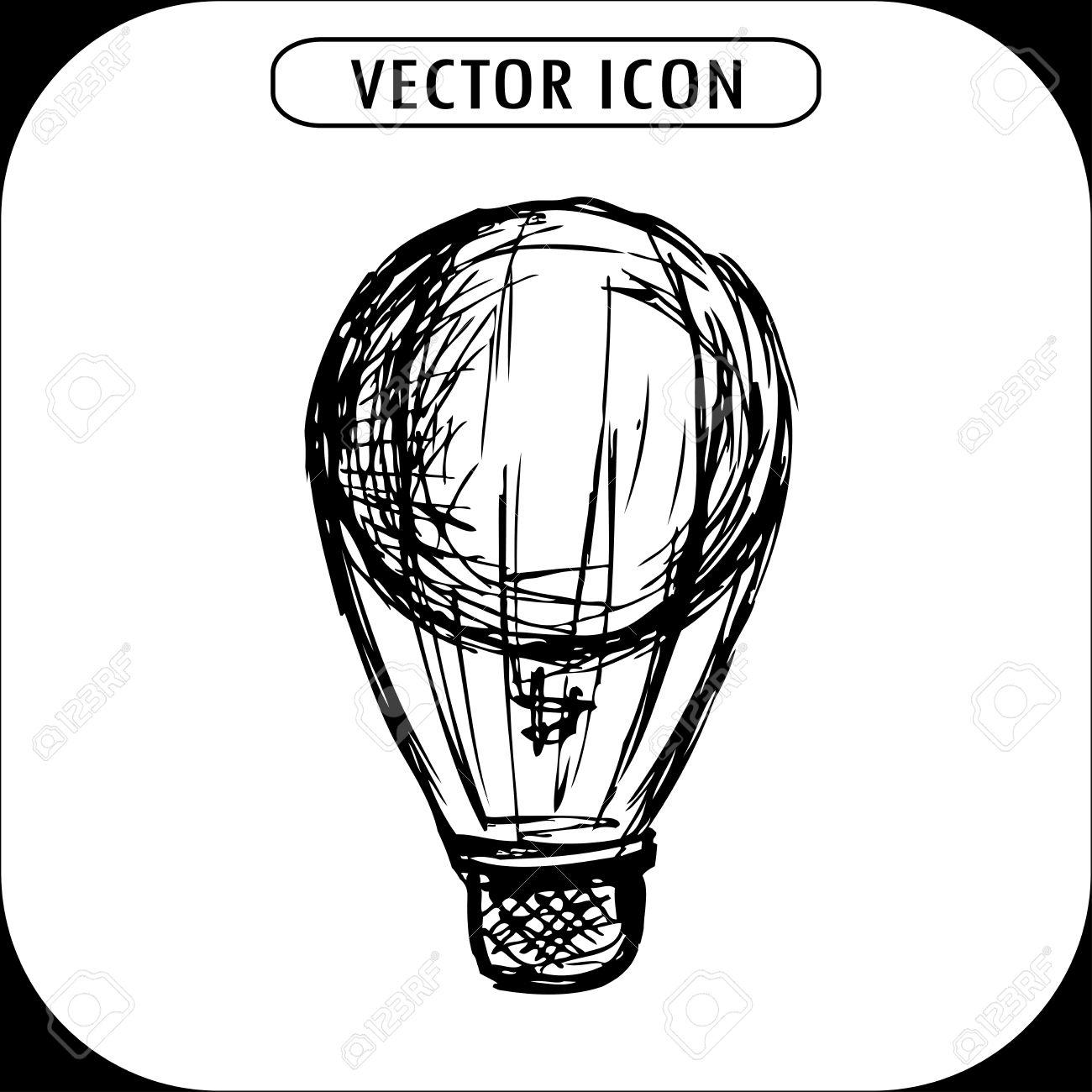 1300x1300 Drawn Hot Air Balloon Hand Drawn