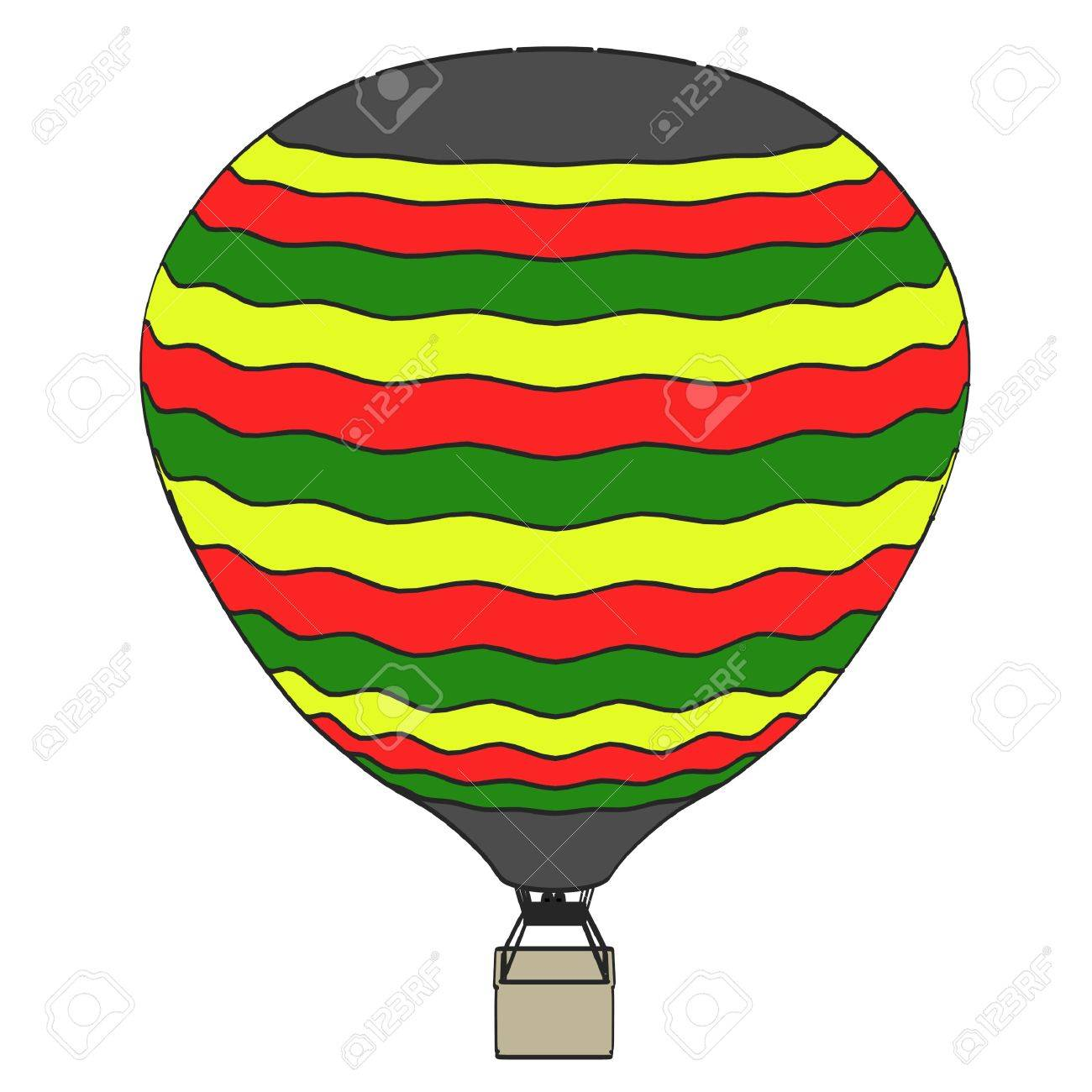 1300x1300 Cartoon Image Of Hot Air Balloon Stock Photo, Picture And Royalty