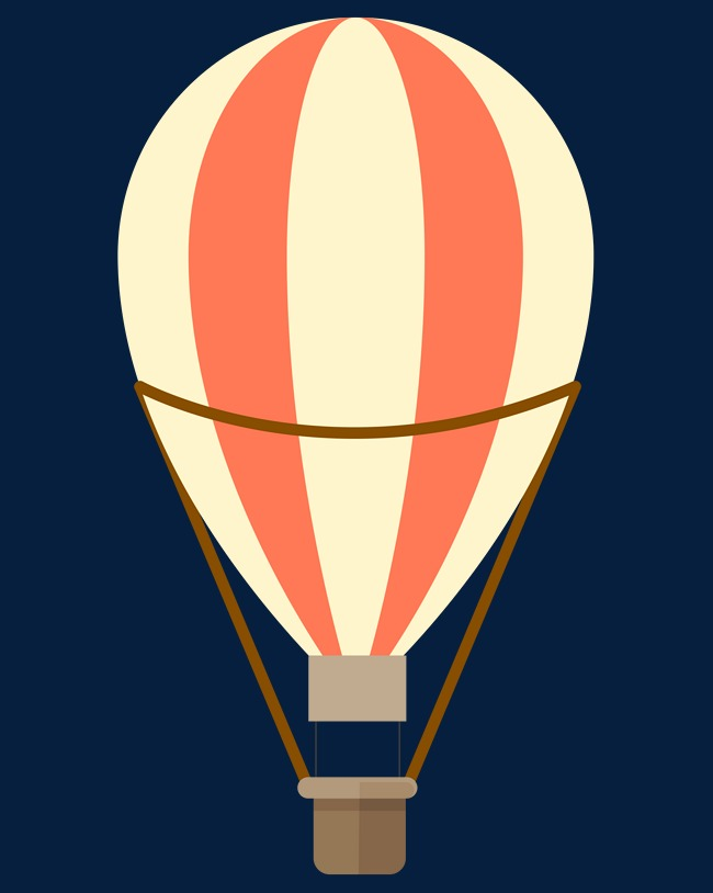 650x814 Cartoon Hot Air Balloon Material, Cartoon, Hot Air Balloon
