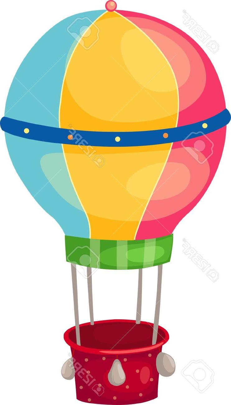 742x1300 Hd Air Balloon Stock Vector Cartoon Kids Image