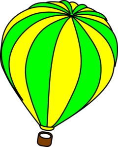 240x299 Hot Air Balloon Green Clip Art