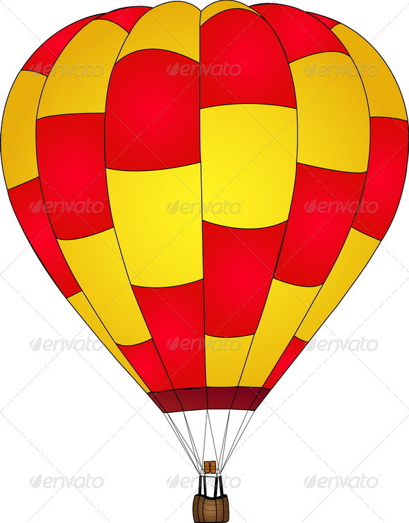 590x755 Hot Air Balloon Vector, Eps 10. By Ohmega1982 Graphicriver