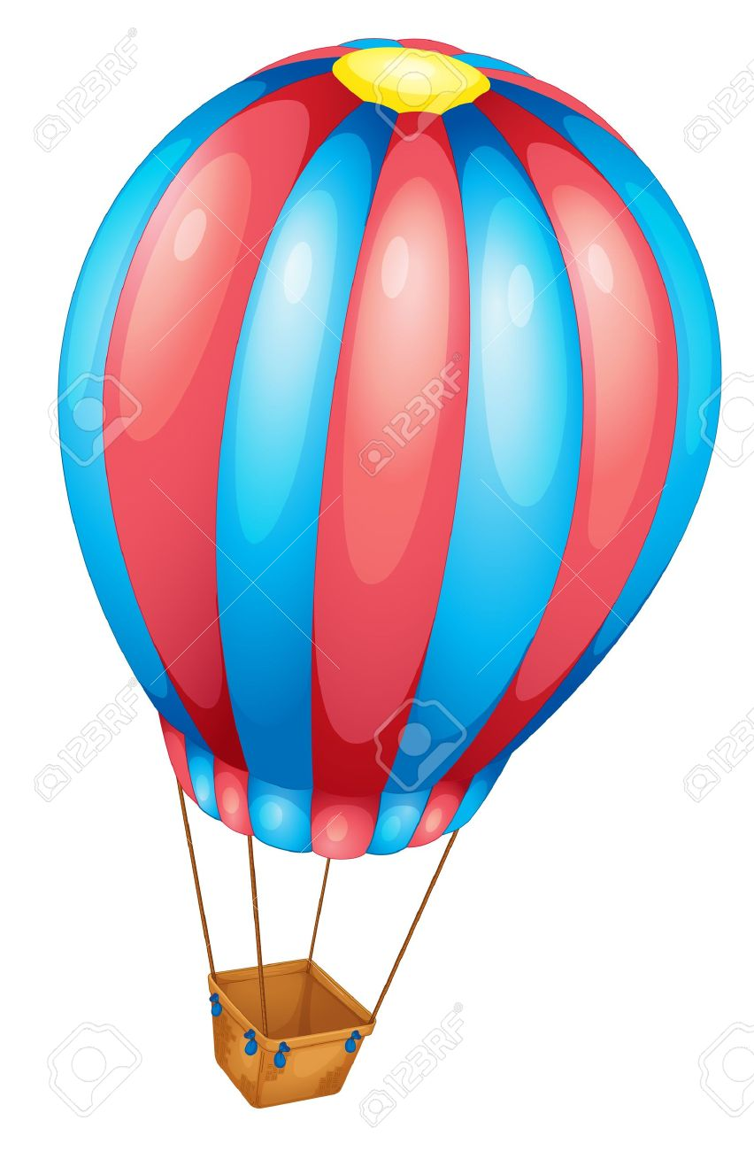 852x1300 Hot Air Balloon Clipart Light Blue