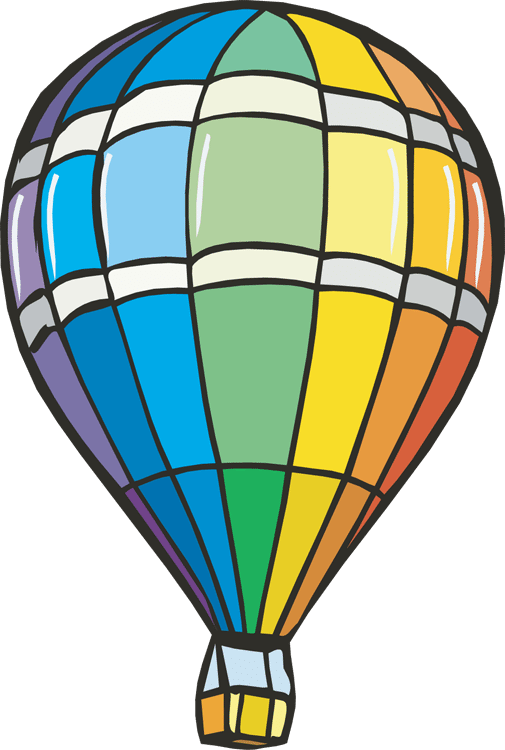 505x750 Hot Air Balloon Clipart Scene