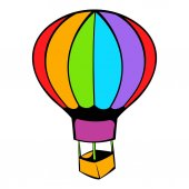 170x170 Cartoon Hot Air Balloon Icon Stock Vector Mocoo2003