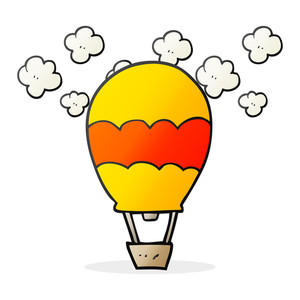 300x300 Freehand Drawn Thought Bubble Cartoon Hot Air Balloon Royalty Free