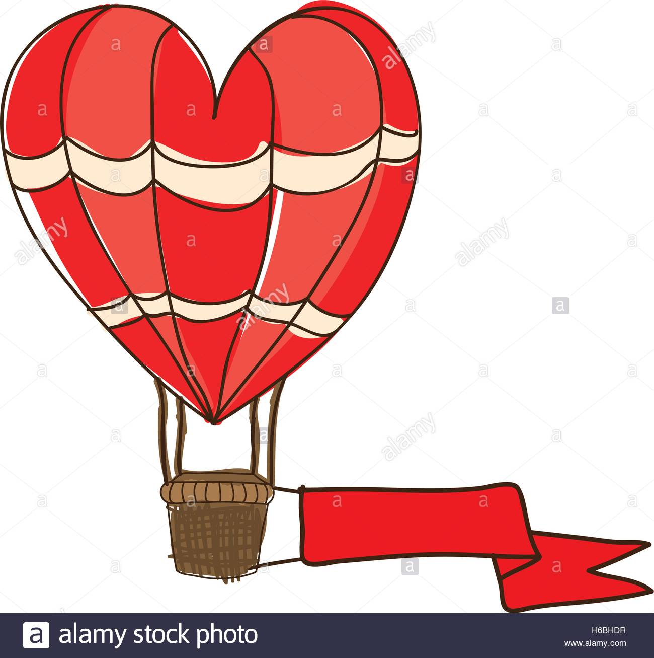 1300x1307 Heart Shape Hot Air Balloon Cartoon Icon Image Vector Illustration