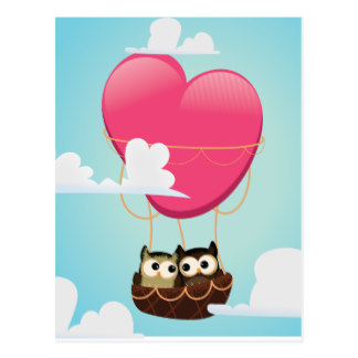 324x324 Cartoon Hot Air Balloon Postcards Zazzle