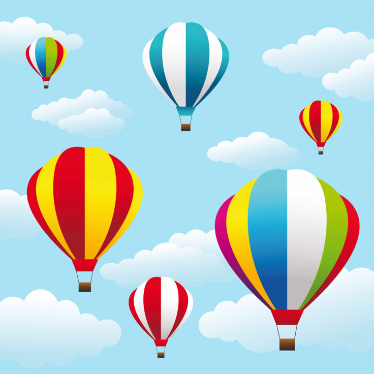 736x736 Colored Hot Air Balloons Wallpaper Mural Wall Murals and Colored