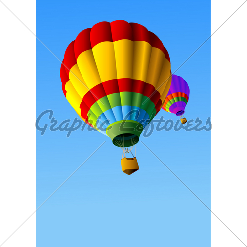 500x500 Colorful Hot Air Balloon In The Sky Clipart Panda