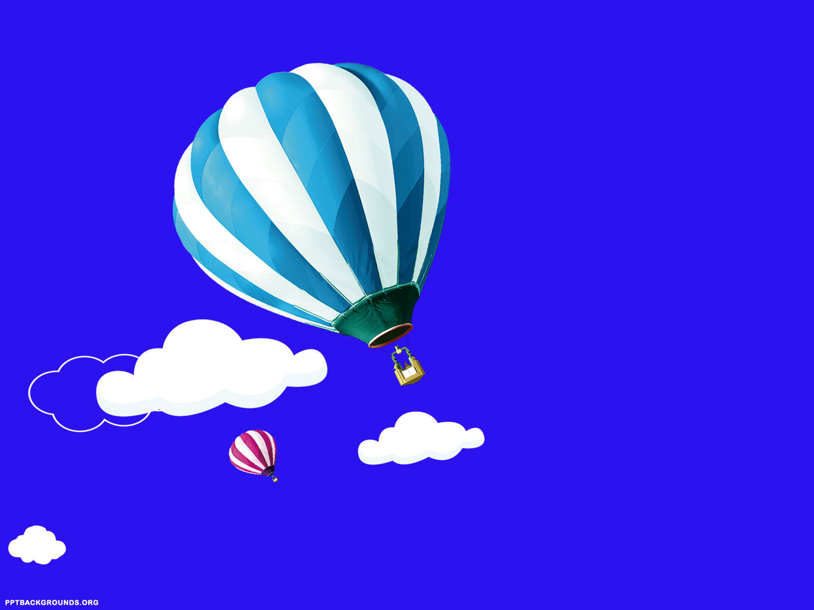 1600x1200 Free Hot Air Balloons With Clouds Backgrounds For PowerPoint