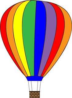 236x322 Free clip art of a fun rainbow striped hot air balloon Sweet