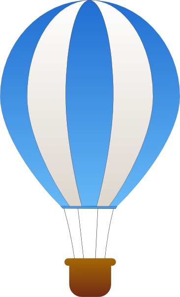 366x603 Light Blue Clipart Hot Air Balloon