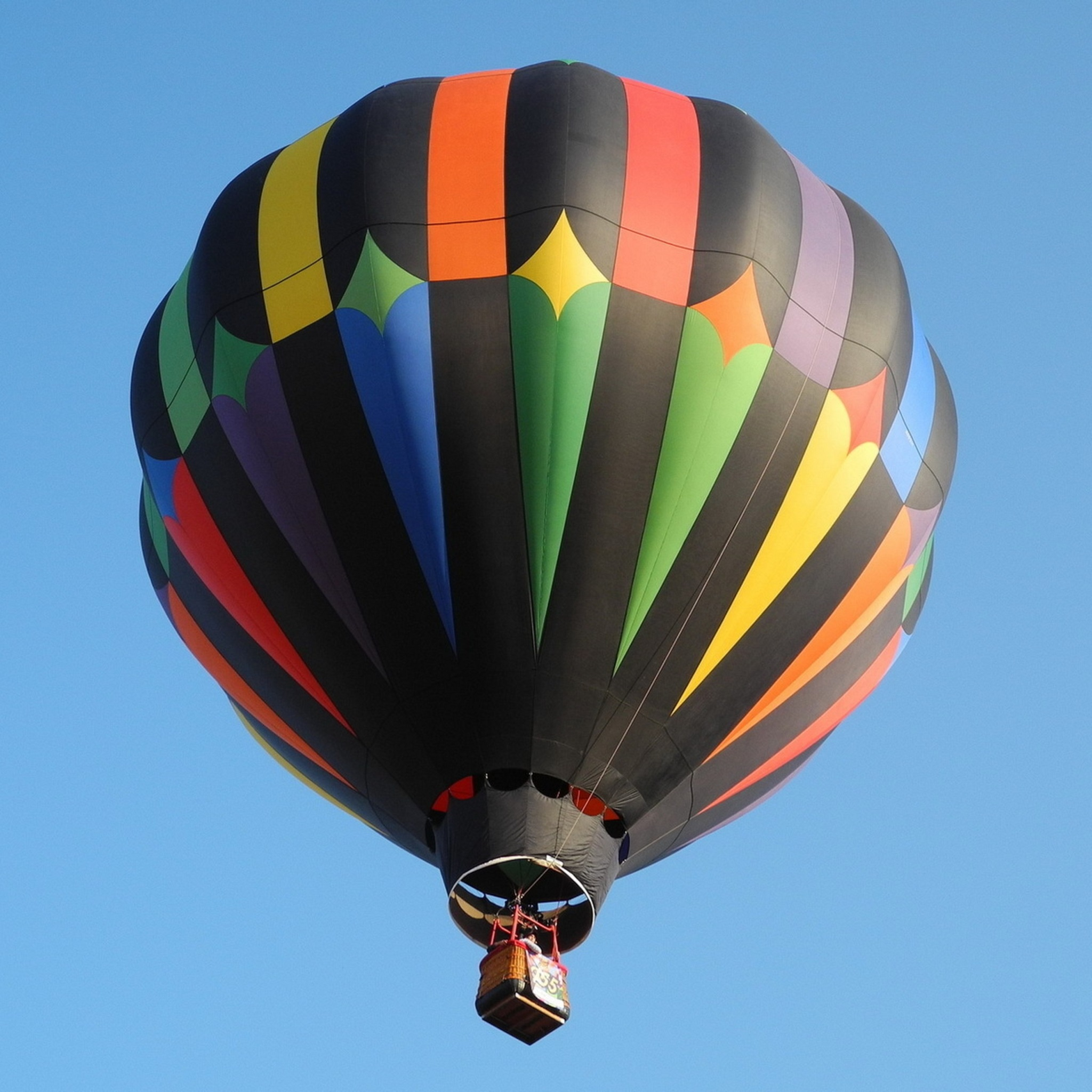 2048x2048 Rainbow Hot Air Ballon