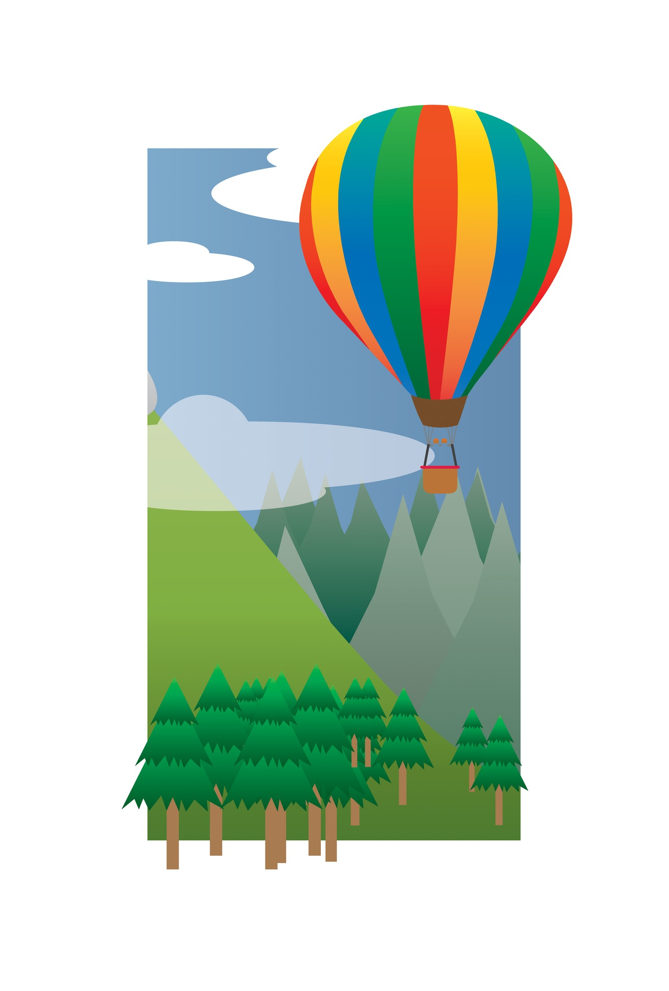 1351x2000 Balloon Ride in the Sky (2013) Wallpaper Mural by TPI Wallsauce