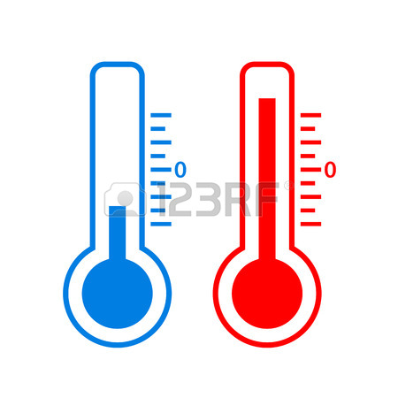 450x450 Hot And Cold Weather Thermometer Icon Royalty Free Cliparts