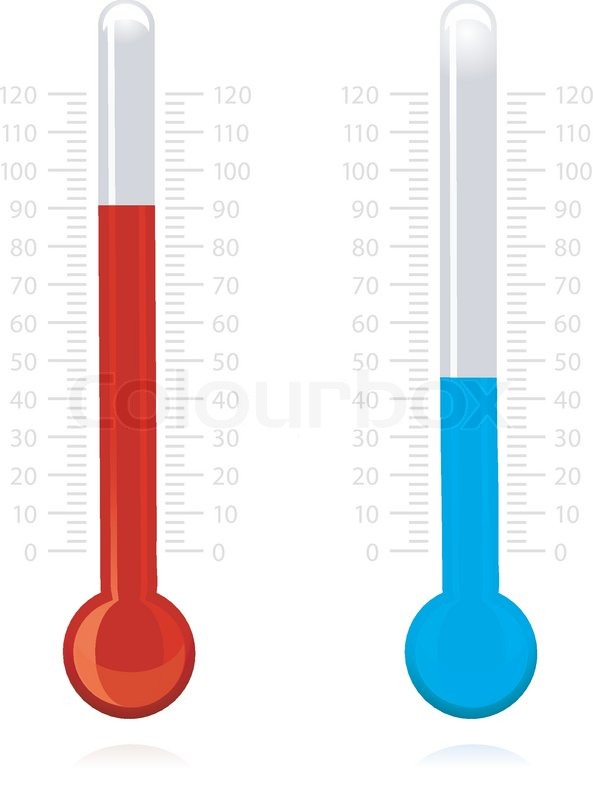 593x800 Illustration Of Vector Thermometer On Isolated Background Stock