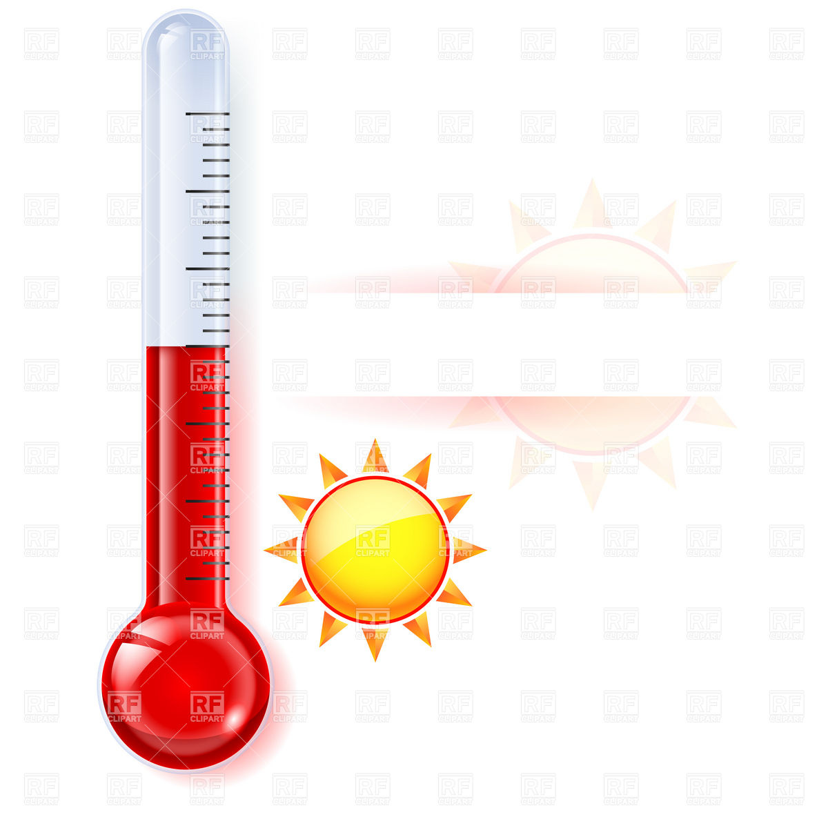 1200x1200 Summer Clipart Thermometer
