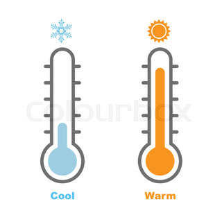 320x320 Thermometer Hot And Cold Temperature Stock Vector Colourbox