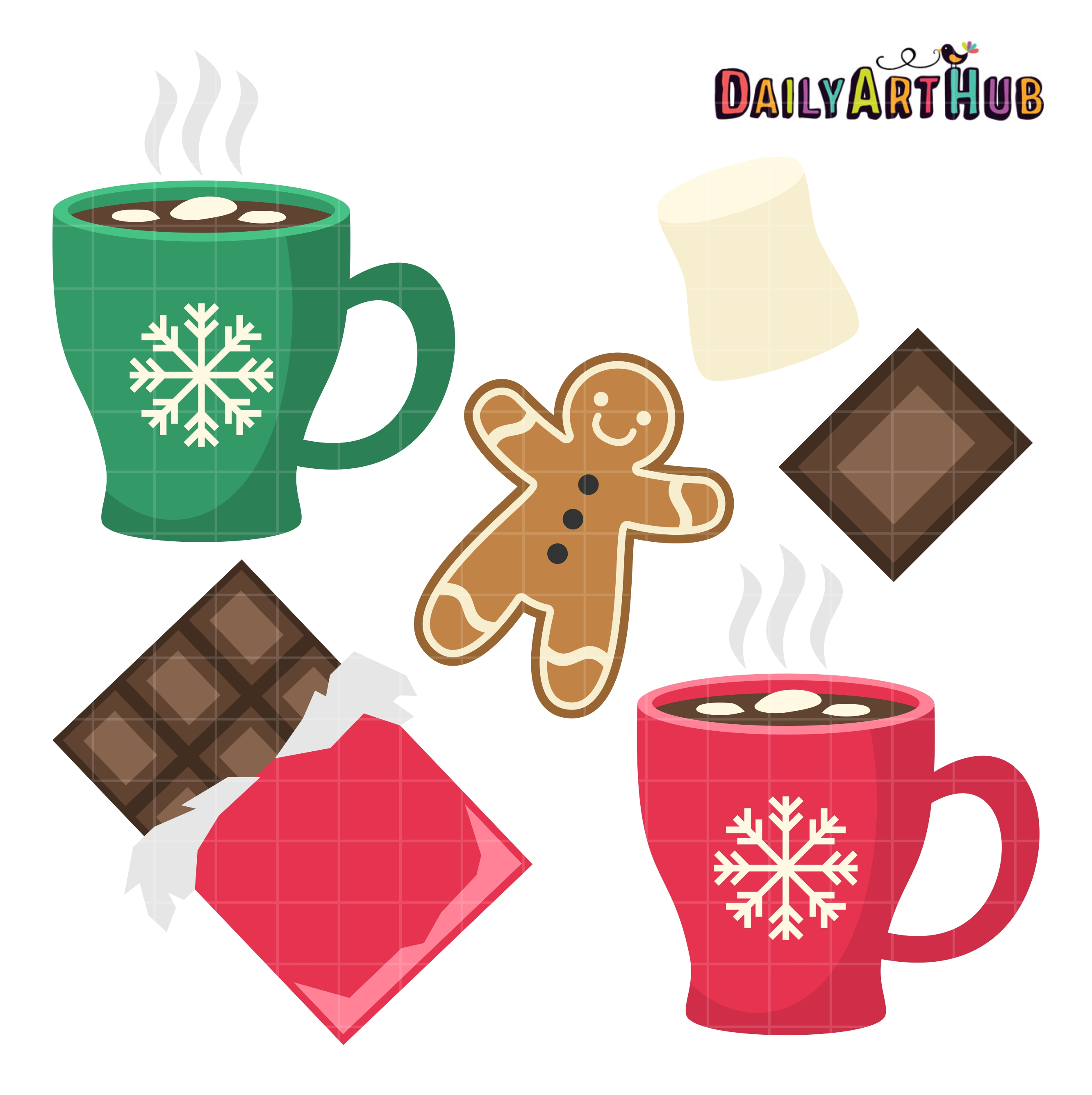 2664x2670 Hot Chocolate Clip Art Set Daily Art Hub