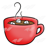 160x160 Abeka Clip Art Red Hot Chocolate And Marshmallows