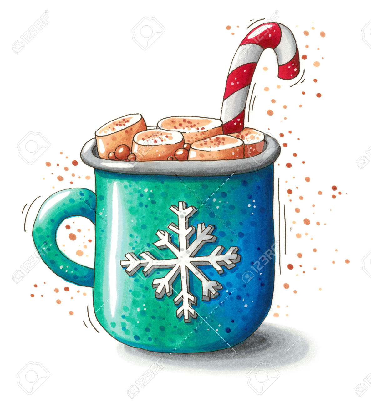 1186x1300 Hot Chocolate Clipart Blue