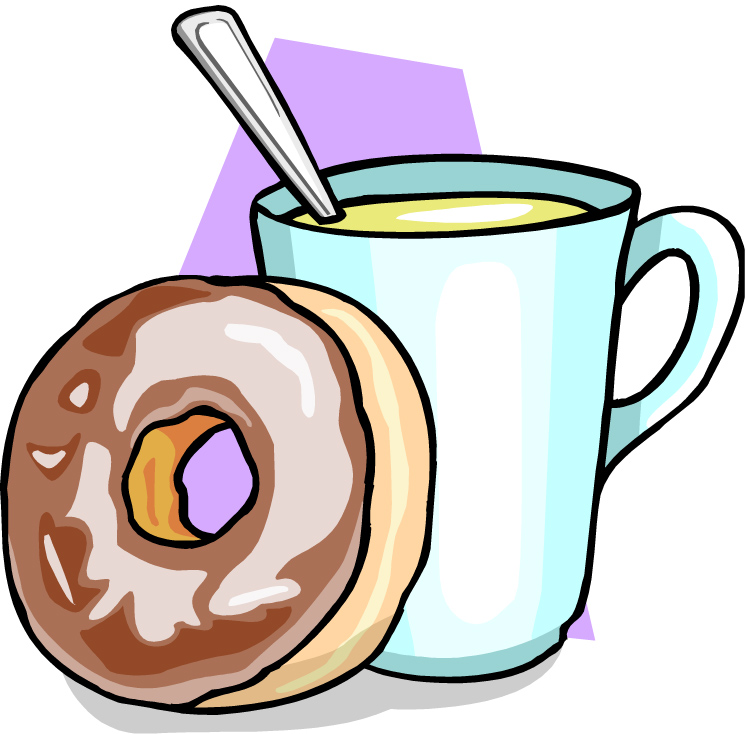 750x734 Hot Chocolate Clipart Donut