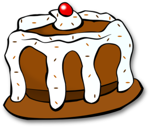 300x255 Chocolate Cake Clip Art