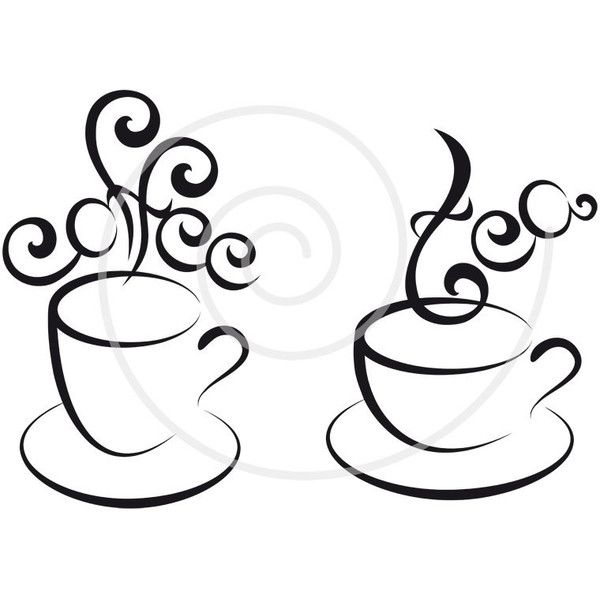 Hot Chocolate Clipart Black And White