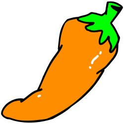 250x250 Orange Hot Chili Pepper Clip Art Free Borders And Clip Art Image