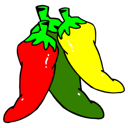 250x250 Three Hot Chili Peppers Clip Art Free Borders And Clip Art