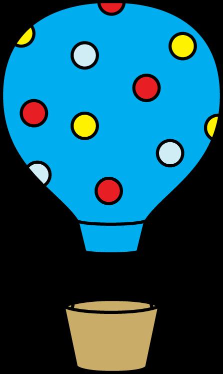 446x747 Colorful Polka Dot Hot Air Balloon Clip Art