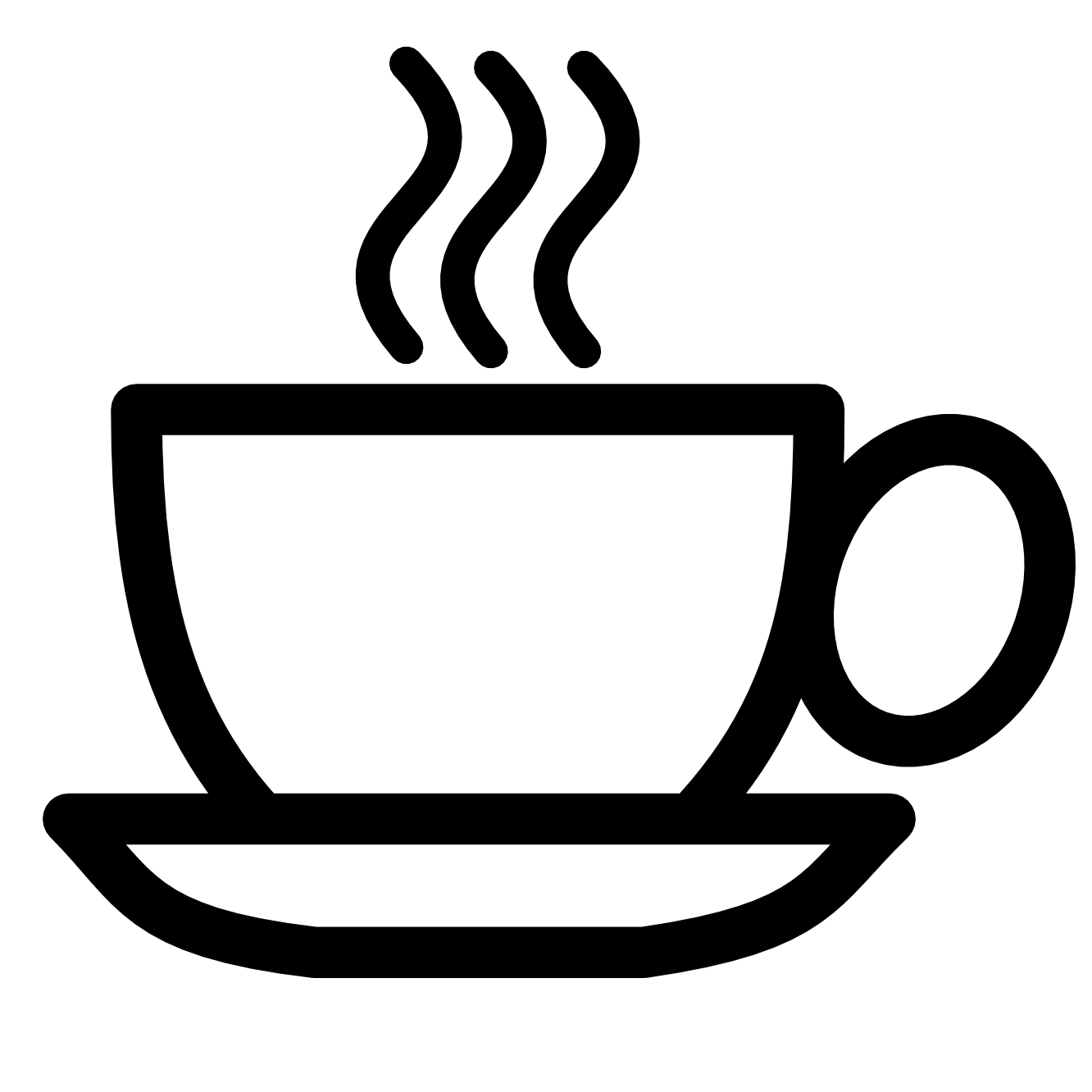 1332x1332 Free Coffee Clipart Black And White Image